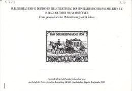 D-Saarbr�cken 1991. Erster gesamtdeutscher Philatelistentag seit 50 Jahren (5.773)