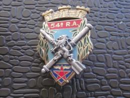 MILITARIA insigne militaire pucelle sans cuir 54� RA  R�giment d'Artillerie defense anti a�rienne basse altitude