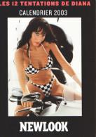 CALENDRIER 2003 - NEWLOOK - Les 12 Tentations De DIANA - HARLEY-DAVIDSON - Calendriers