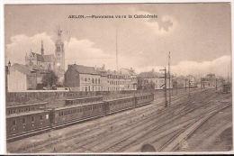ARLON  GARE AVEC TRAIN  FELDPOST 1917 CACHET Re571 - Arlon