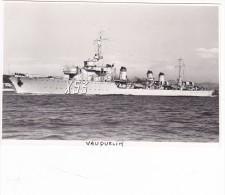 Batiment Militaire Marine Francaise Contre Torpilleur Vauquelin Signée  Emery En 1939 Saborde A Toulon - Bateaux