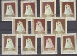 1990 OEUVRES D ART ENDOMMAGEES DURANT LA REVOLUTION  Mi No  4623 Et Yv No 3910  LOT X 10 - Usado