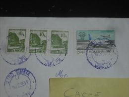 LETTRE ROUMANIE ROMANIA ROMANA AVEC YT 3956 ET PA 317 - HOTEL ROMAN BAILE HERCULANE - AVION BOEING 737 - - 1948-.... Républiques
