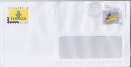 Ancienne Voiture à Tirer Par Chevaux, A Circulé, Routage Au Recto Et Au Verso, Daté CTA Madrid 21.10.14 - Enteros Postales