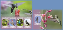 st14402ab S.Tome Principe 2014 Birds Colibri 2 s/s
