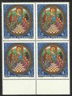 "Österreich 1989  ""OÖ Landesausst. - 900 J. Klosterkirche Lambach"" 4er-Block  ÖS 4,-  ANK Nr. 1988 ** / Feinst Postfrisch - 1945-.... 2nd Republic"