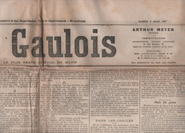 LE GAULOIS 09 03 1907 - GREVE ELECTRICIENS PARIS DANS LE NOIR - RUSSIE - REPOS HEBDOMADAIRE - SPORTS - MONDANITES - Journaux - Quotidiens