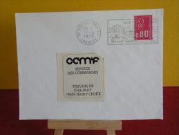Flamme + Timbre - 19 Corrèze, Bort Les Orgues, Reflet Du Massif Central - 1.4.1975 - Marcophilie (Lettres)