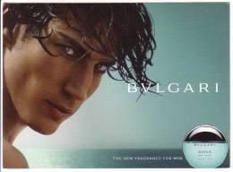 BVLGARI Aqva - Perfume Card * Parfum Perfumee Profumo Perfumees Perfumes - Modern (from 1961)