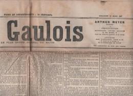LE GAULOIS 10 03 1907 - GREVE ELECTRICIENS PARIS DANS LE NOIR / METROPOLITAIN THEATRES RUE DU CROISSANT HOTEL DE VILLE - Journaux - Quotidiens