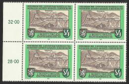"""Österreich 1989   """"Steir. Landesausst. Menschen-Münzen-Märkte Judenburg""""  4er-Block  ÖS 4,-  ANK Nr. 1984 ** - 1945-.... 2nd Republic"""