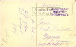 """1915: Deutsche Feldpost """"�berpr�ft BUDAPEST 1"""""""
