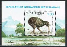 G287 FAUNA VOGELS BIRDS OISEAUX VÖGEL AVES KIWI NEW ZEALAND ´90 CUBA 1990 Gebr / Used - Non Classés
