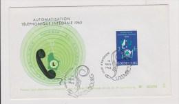 Luxembourg  //   1 Er Jour  // Automatisation Téléphonique Intégrale //  16/9/63 - FDC