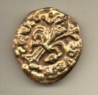 RARE f�ve PERSO (ronde des pains) MONNAIE florin �douard  III d�aquitaine 1317-1355 fleur de lys