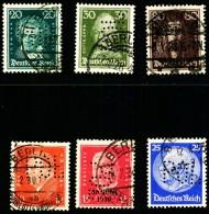 """6 Marken Mit """"POL""""-Lochungen - Used Stamps"""
