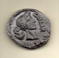 RARE f�ve PERSO (ronde des pains) MONNAIE ROMAINE denier jules C�sar 44 av JC effigie jules c�sar