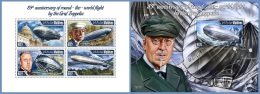 mld14707ab Maldives 2014 Graf Zeppelin 2 s/s