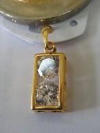 Médaille Pendentif Brillants- Or 750/1000 - Pendenti