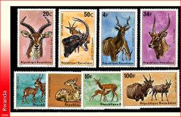Rwanda 0611/18 SG  Antilopes  Sans gomme/Without gum