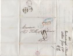 TB 435 - Lettre Taxée  De CONSTANTINOPLE ( Turquie ) Par Paquebot De La Méditerranée Via MARSEILLE Pour LYON - Turkey