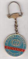 Romania old key ring -  Dacia 1300 - Dacia Romania Export-Import