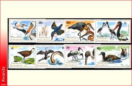 Rwanda 0649/58**  Oiseaux aquatiques  MNH
