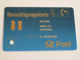 GERMANY - MINT - Early Demo - Berechtigungskarte - 9360064 - RARE - T-Series: Testkarten