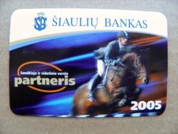 small calendar from Lithuania 2005 Siauliu Bank horse rider