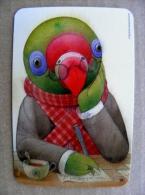 small calendar from Lithuania 2013 bird cartoon