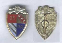 Insigne du 25e R�giment d'Artillerie