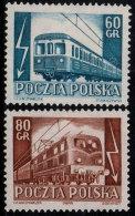 ~~~ Polen Poland 1954  -  Trains & Railway  - Mi. 837/838  * MH  ~~~ - Neufs