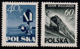 ~~~ Polen Poland 1954  -  Trains & Railway  - Mi. 868/869 * MH  - Cat.  20.00 Euro ~~~ - Neufs