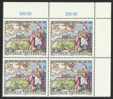 """Österreich 1989   """"900 Jahre Stift Melk""""  4er-Block  ÖS 5,-   ANK Nr. 1976 ** / Feinst Postfrisch - 1945-.... 2nd Republic"""