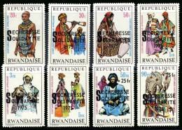 Rwanda 0690/97SG  Secheresse surcharge Sans gomme/without gum