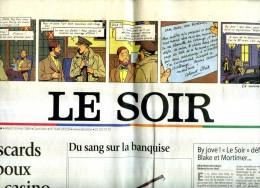 BLAKE E MORTIMER LE SOIR 30.03.2004 EDIZIONE SPECIALE DEDICATA AI PERSONAGGI DI  JACOBS - Non Classificati