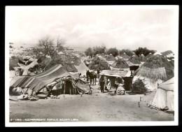 8. Libia. Accampamento Famiglie Soldati Libici - Vera Fotografia ------- Postcard Not Traveled - Libye