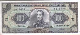 ECUADOR  100 SUCRES 1980. EBC  S/C - Ecuador