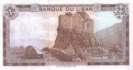 LIBANO BILLETE DE 25 LIVRES 1983  S/C - Líbano
