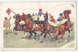 Cpa Humour COURSE HIPPIQUE Chevaux Au Départ Jockey - BKW L  679 - Ohne Zuordnung