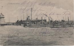 AK U Boot Hafen Uboot Schiff Dampfer Leuchtturm Signalstation Stempel R�stringen Wilhelmshaven Kiel Hamburg ? Feldpost