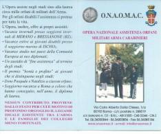 CAL107 - CALENDARIETTO 2005 - OPERA NAZIONALE ASSISTENZA ORFANI MILITARI ARMA CARABINIERI