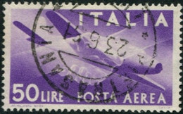 Pays : 247,04 Italie: Royaume : Umberto II )  Yvert Et Tellier N°: Aé   121 (o) - 5. 1944-46 Lieutenance & Umberto II
