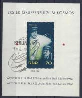 Germany (DDR) 1962  Wostock 3 + 4   (o)  Mi.917  (block 17) - Blocks & Kleinbögen