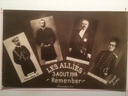 Guerre Européenne 1914, Les Alliés 3 Août 1914, Nicolas II, Roi George, Poincaré, Ailbert 1er - Guerre 1914-18
