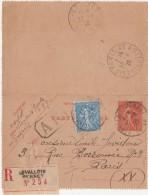 CARTE LETTRE - ENTIER POSTAL   Levallois Perret Recommandé 1929 - Postal Stamped Stationery