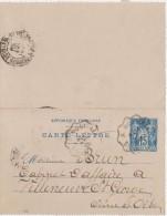 CARTE LETTRE - ENTIER POSTAL  Montreau 1899 - Kartenbriefe