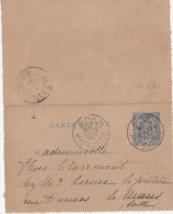 CARTE LETTRE - ENTIER POSTAL  Gray 1898 - Kartenbriefe