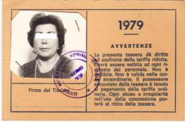 PALERMO /  ABBONAMENTO AUTOBUS  AMAT PER DIPENDENTI  ENEL _  Anno 1979 ( Completo Di Foto ) - Europe