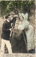 COUPLE -  Lot De 5 Cartes Fantaisies (scannée En Recto-verso). - Postkaarten